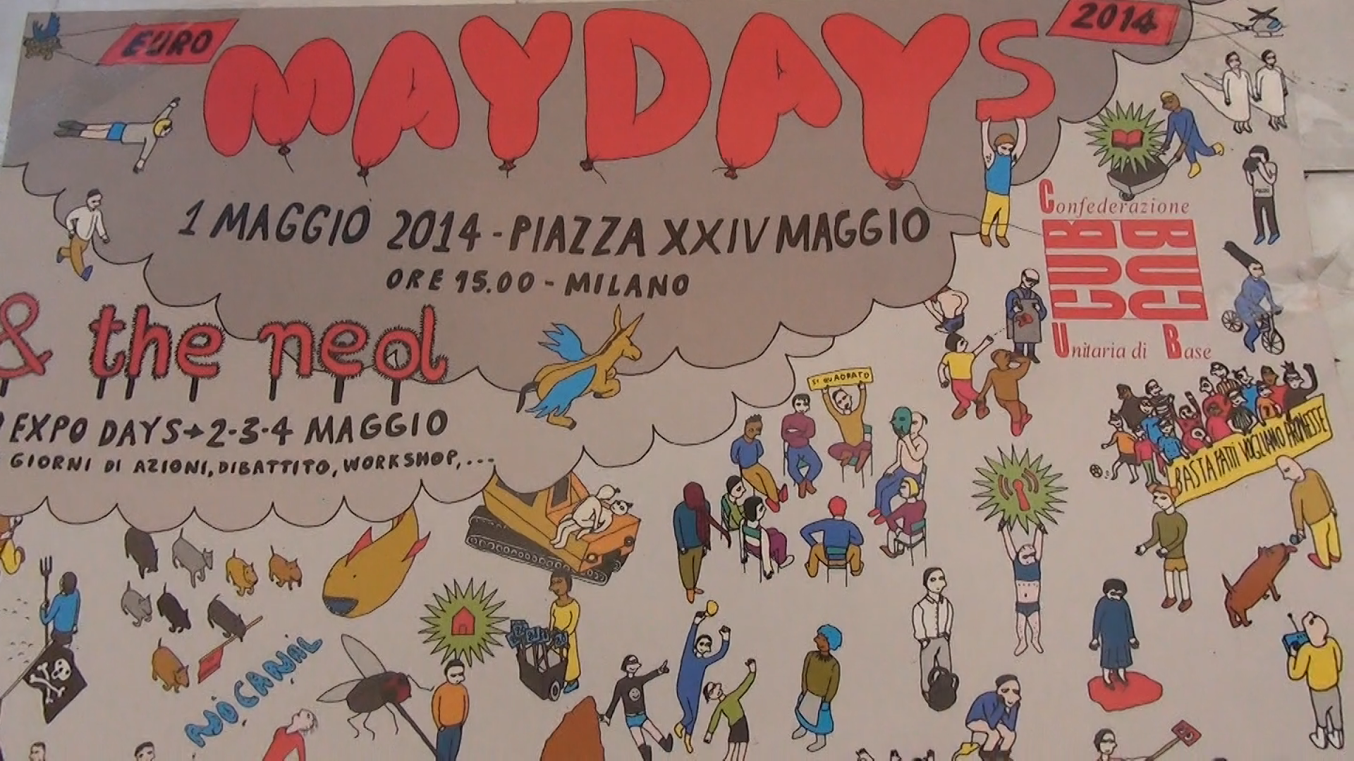 Video Euromayday 2014 Milano