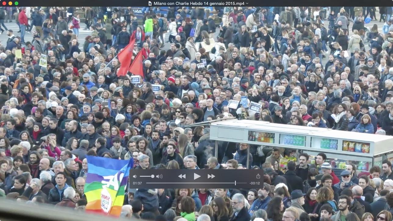 A Milano, con Charlie Hebdo