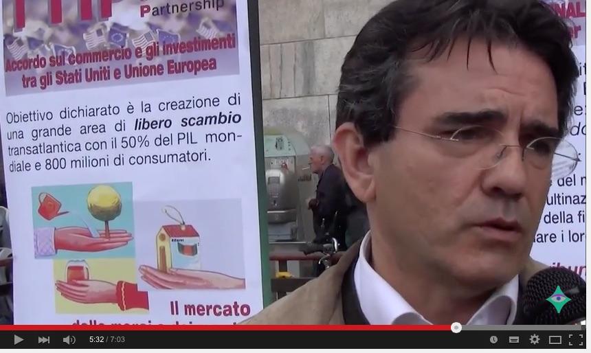 Stop-TTIP presidio a Milano