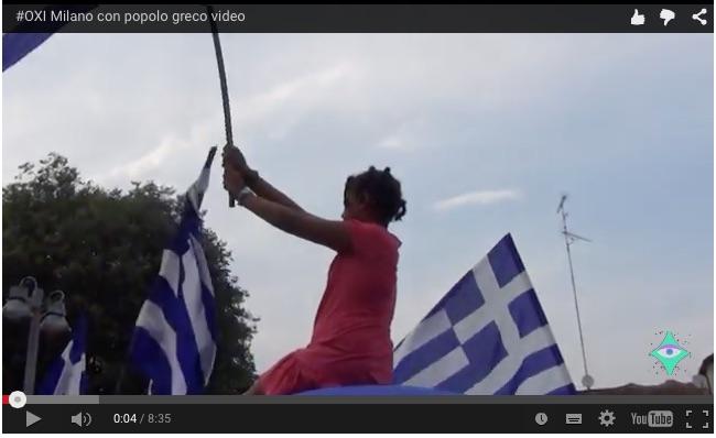 OXI Milano con il popolo greco