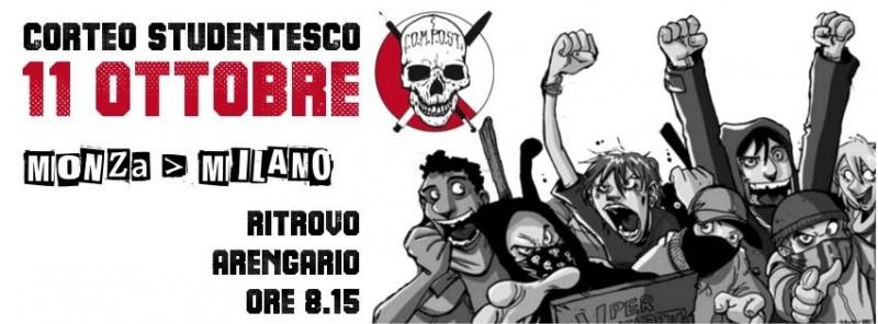 Video corteo studenti 11 ottobre 2013 a Milano