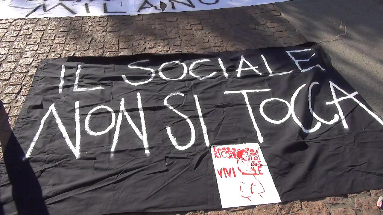 Video presidio operatori e operatrici sociali Milano contro tagli e precarietà