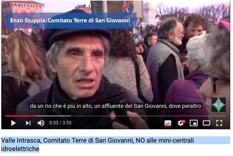 Valle Intrasca, Comitato Terre di San Giovanni, NO alle mini-centrali idroelettriche